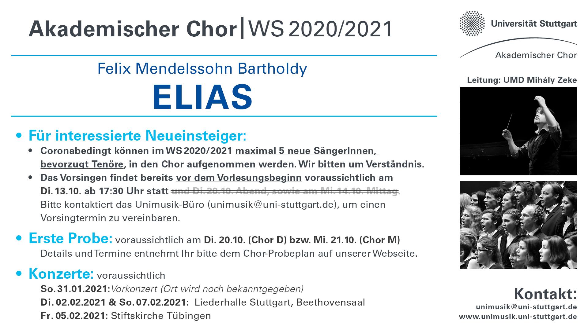 Vorläufiger Probenplan Akad. Chor WS20_21